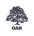 Oak Tree Logo Silhouette vector image