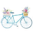 Watercolor bike bicycle vector image