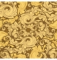 Golden Leaves Pattern vector image vector image