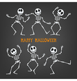 Halloween Skeleton vector image