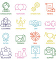 Customer Relationship Management Icons - part 1 vector image vector image