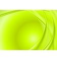 Bright green wavy background vector image vector image