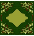 Card with hand-drawing ornaments and frame vector image