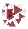 abstract red triangle banner background vector image