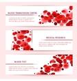 Blood cells Medical banners set vector image