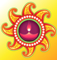creative happy diwali design vector image
