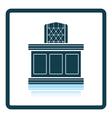Judge table icon vector image