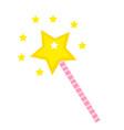 magic wand icon flat cartoon style isolated on vector image
