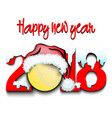 new year numbers 2018 and tennis ball vector image