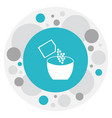 of cook symbol on salt icon vector image