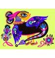 ethnic fantastic animal doodle design in karakoko vector image vector image