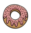 glazed donut icon image vector image