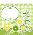 Floral scrapbook green set vector