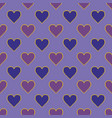 pixel hearts seamless pattern vector image