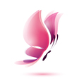 pink butterfly symbol vector image vector image