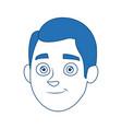 businessman profile male portrait man vector image