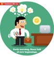 Business inspirations workday vector image vector image