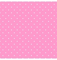 Tile white polka dots pink on background pattern vector image
