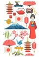 Japan seamless pattern vector image