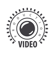 logo lens and film in the circle vector image