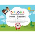 Preschool Elementary school Kids Diploma template vector image