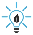 Eco Light Bulb Flat Pictogram vector image