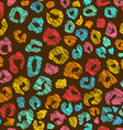 Colorful Seamless Pattern Of Leopard Skin vector image
