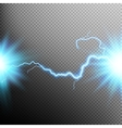 Electrical discharge Lightning EPS 10 vector image