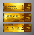 Banners set for business modern design vector image