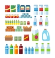 Big Set of Store Products in Flat vector image