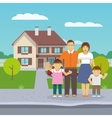 Family House Flat vector image