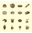 Fast-food icon set vector image