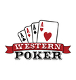 Four aces Poker vector image