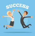 happy smiling successful business office workers vector image