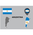 Map of Argentina and symbol vector image