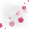 Pastel Flowers Wallpaper vector image