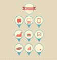 Retro Business Icons vector image