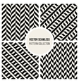 Seamless Geometric Pattern Collection vector image