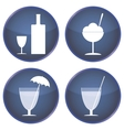 set of buttons for cafes and bars vector image