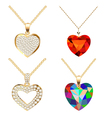 set of pendants pendant with precious vector image vector image