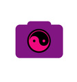 Digital Camera- photography logo with ying yang vector image vector image