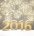 2016 New Year background vector image