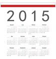 Square Polish 2015 year calendar vector image vector image