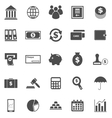 Banking icons on white background vector image vector image