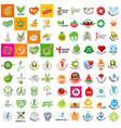 large set of logo of a healthy lifestyle vector image