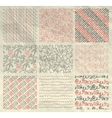 Pen Drawing Seamless Patterns on Crumpled Paper vector image
