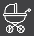 baby carriage line icon pram and pushchair vector image