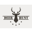Deer hunt Hunting club logo in vintage style vector image