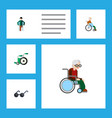 flat icon disabled set of handicapped man vector image