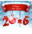 New Years background with gift vector image